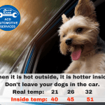 How warm is it for your pet in a locked car?